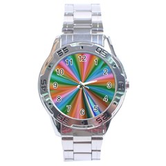 Abstract Rainbow Stainless Steel Men s Watch