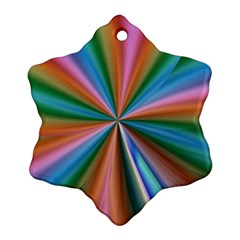 Abstract Rainbow Snowflake Ornament (2 Side)