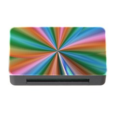 Abstract Rainbow Memory Card Reader With Cf