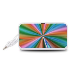Abstract Rainbow Portable Speaker (white)