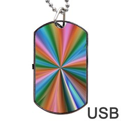 Abstract Rainbow Dog Tag Usb Flash (two Sides)