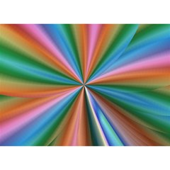 Abstract Rainbow Birthday Cake 3d Greeting Card (7x5)