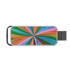 Abstract Rainbow Portable Usb Flash (two Sides)