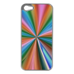 Abstract Rainbow Apple iPhone 5 Case (Silver)