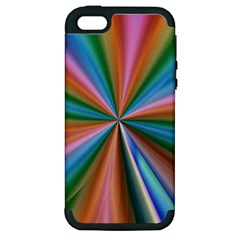 Abstract Rainbow Apple iPhone 5 Hardshell Case (PC+Silicone)