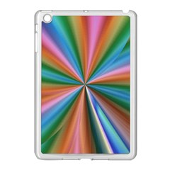 Abstract Rainbow Apple iPad Mini Case (White)