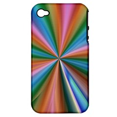 Abstract Rainbow Apple iPhone 4/4S Hardshell Case (PC+Silicone)