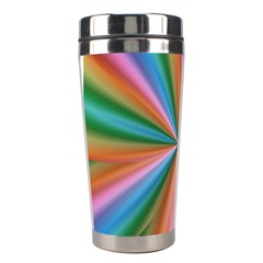 Abstract Rainbow Stainless Steel Travel Tumblers