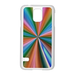Abstract Rainbow Samsung Galaxy S5 Case (white)