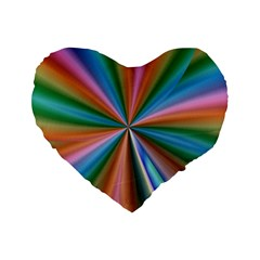 Abstract Rainbow Standard 16  Premium Flano Heart Shape Cushions