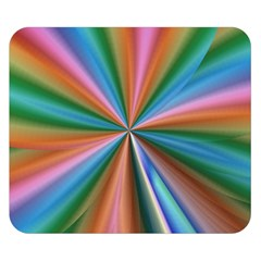 Abstract Rainbow Double Sided Flano Blanket (small)