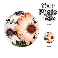 Beautiful Colourful African Daisies Playing Cards 54 (round)