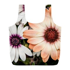 Beautiful Colourful African Daisies Full Print Recycle Bags (l)