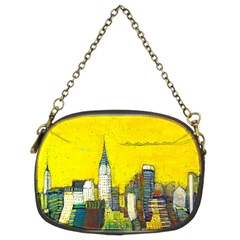New York City with yellow Chain Purses (Two Sides)