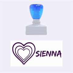 Sienna hearts Medium Rubber Stamp (Rectangle)