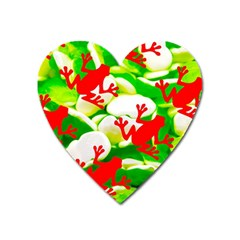 Box of Frogs  Heart Magnet