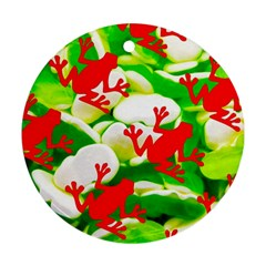 Box of Frogs  Round Ornament (Two Sides)