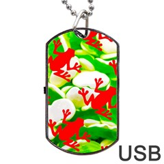 Box of Frogs  Dog Tag USB Flash (Two Sides)