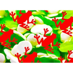 Box Of Frogs  Birthday Cake 3d Greeting Card (7x5)