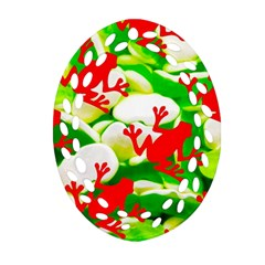 Box Of Frogs  Ornament (oval Filigree)