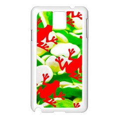 Box of Frogs  Samsung Galaxy Note 3 N9005 Case (White)