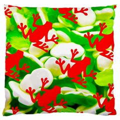 Box Of Frogs  Large Flano Cushion Cases (two Sides)