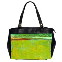 Abstract Landscape In Green  Office Handbags (2 Sides)