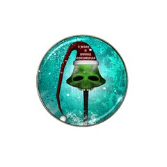 I Wish You A Merry Christmas, Funny Skull Mushrooms Hat Clip Ball Marker (4 pack)