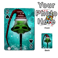 I Wish You A Merry Christmas, Funny Skull Mushrooms Playing Cards 54 Designs