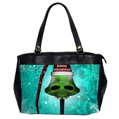 I Wish You A Merry Christmas, Funny Skull Mushrooms Office Handbags (2 Sides)
