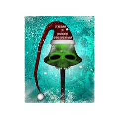 I Wish You A Merry Christmas, Funny Skull Mushrooms Shower Curtain 48  x 72  (Small)