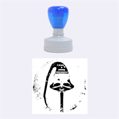 I Wish You A Merry Christmas, Funny Skull Mushrooms Rubber Round Stamps (Medium)