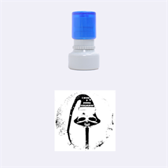 I Wish You A Merry Christmas, Funny Skull Mushrooms Rubber Round Stamps (small)
