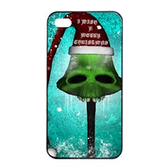 I Wish You A Merry Christmas, Funny Skull Mushrooms Apple Iphone 4/4s Seamless Case (black)