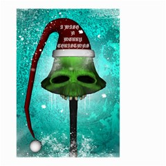 I Wish You A Merry Christmas, Funny Skull Mushrooms Small Garden Flag (two Sides)