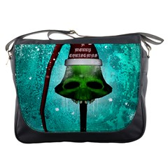 I Wish You A Merry Christmas, Funny Skull Mushrooms Messenger Bags