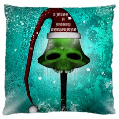 I Wish You A Merry Christmas, Funny Skull Mushrooms Large Cushion Cases (Two Sides)