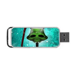 I Wish You A Merry Christmas, Funny Skull Mushrooms Portable Usb Flash (one Side)