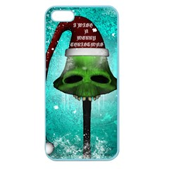 I Wish You A Merry Christmas, Funny Skull Mushrooms Apple Seamless iPhone 5 Case (Color)