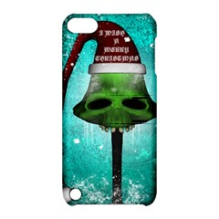 I Wish You A Merry Christmas, Funny Skull Mushrooms Apple iPod Touch 5 Hardshell Case with Stand