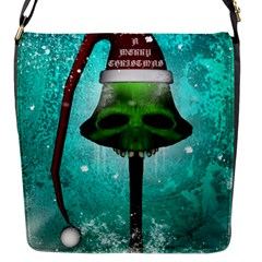 I Wish You A Merry Christmas, Funny Skull Mushrooms Flap Messenger Bag (S)