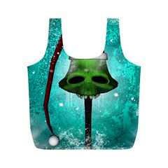 I Wish You A Merry Christmas, Funny Skull Mushrooms Full Print Recycle Bags (M)