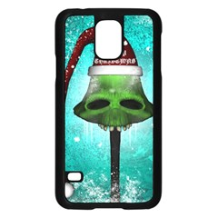 I Wish You A Merry Christmas, Funny Skull Mushrooms Samsung Galaxy S5 Case (black)