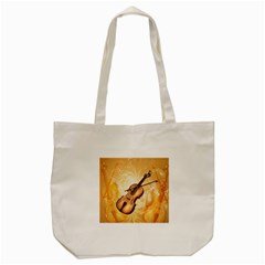 Wonderful Violin With Violin Bow On Soft Background Tote Bag (cream)