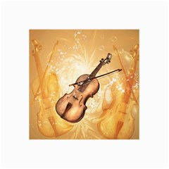 Wonderful Violin With Violin Bow On Soft Background Collage 12  X 18