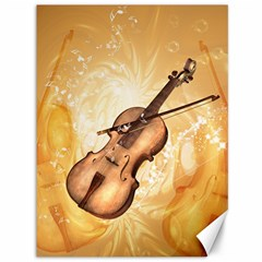 Wonderful Violin With Violin Bow On Soft Background Canvas 36  x 48