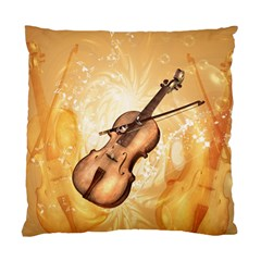 Wonderful Violin With Violin Bow On Soft Background Standard Cushion Case (One Side)