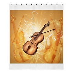 Wonderful Violin With Violin Bow On Soft Background Shower Curtain 60  x 72  (Medium)