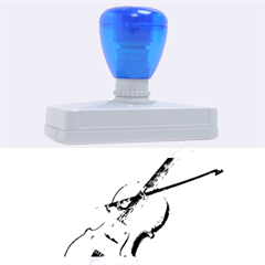 Wonderful Violin With Violin Bow On Soft Background Rubber Address Stamps (xl)