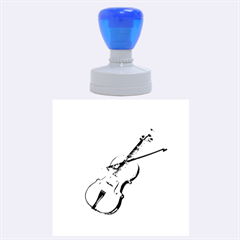 Wonderful Violin With Violin Bow On Soft Background Rubber Round Stamps (Large)